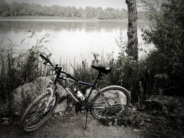 Bike by the MO River
